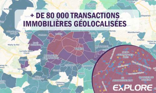 + De 80 000 transactions immobilières géolocalisées