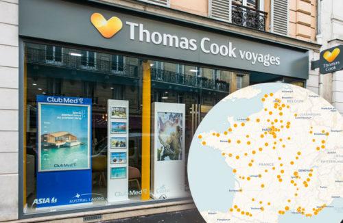 Découvrez l'implantation des agences Thomas Cook en France